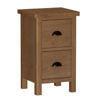 See more information about the Rutland Oak Small Bedside Cabinet Rustic