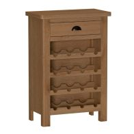 See more information about the Rutland Oak Wine Cabinet Rustic