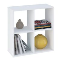 See more information about the Kudl Bookcase White 4 Shelf