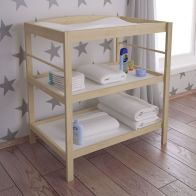 See more information about the Kudl Changing Table Brown 2 Shelf