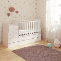 See more information about the Kudl Cot Storage Bed White