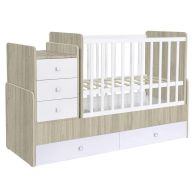 See more information about the Kudl Cot Storage Bed White & Elm Style