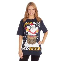 See more information about the Unisex Christmas Beer T-Shirt - Small