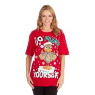 See more information about the Unisex Christmas Pluck T-Shirt - Small