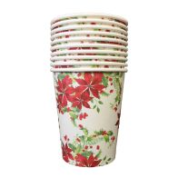 See more information about the Christmas Paper Cup 10 Pack - Flowers