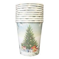 See more information about the Christmas Paper Cup 10 Pack - Tree Presents
