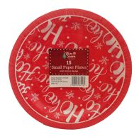 See more information about the Small Christmas Paper Plates 15 Pack - Ho Ho Ho