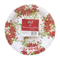 See more information about the Small Christmas Paper Plates 15 Pack - Poinsettia & Holly