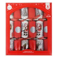 See more information about the 6 Christmas Party Crackers 15 Inch - Red Santa Claus