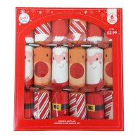 See more information about the 6 Christmas Party Crackers 15 Inch - Santa & Rudolph