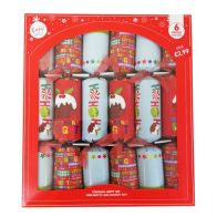 See more information about the 6 Christmas Party Crackers 15 Inch - Christmas Puddings