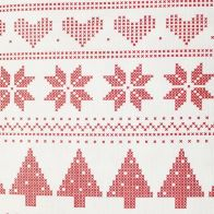 See more information about the Christmas PEVA Tablecloth - Red White Pixels 50 x 50""