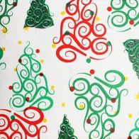 See more information about the Christmas PEVA Tablecloth - Curly Trees 50 x 50""