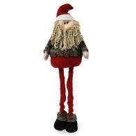 See more information about the Extendable Standing Santa Figure With Tartan - 36 Inch