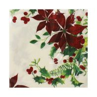 See more information about the Christmas Napkins 25 Pack - Wreath Border With Writing