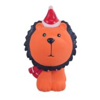 See more information about the Festive Squeaky Jungle Animals Lion Dog Toy
