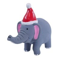 See more information about the Festive Squeaky Jungle Animals Elephant Dog Toy