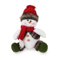 See more information about the Sitting Snowman Character - Red Hat