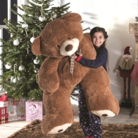 "See more information about the Enormous Sitting Teddy Dark Brown - 53 Inch (4' 5"")"