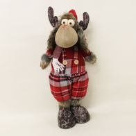 See more information about the 19 Inch Standing Reindeer - Tartan Hat