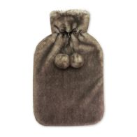 See more information about the Hamilton McBride Faux Fur Hot Water Bottle 2 Litre - Dark Brown