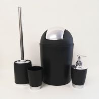 See more information about the Bathroom Set 4 Pieces - Black