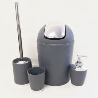 See more information about the Bathroom Set 4 Pieces - grey