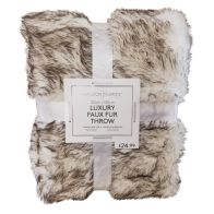 See more information about the Hamilton McBride Luxury Faux Fur Throw 120 x 150cm - White