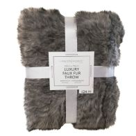 See more information about the Hamilton McBride Luxury Faux Fur Throw 120 x 150cm - Grey