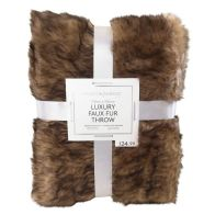 See more information about the Hamilton McBride Luxury Faux Fur Throw 120 x 150cm - Brown