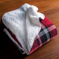 See more information about the Sherpa Fleece Throw 120 x 150cm - Red
