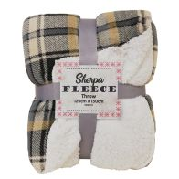 See more information about the Sherpa Fleece Throw 120 x 150cm - Beige & Grey