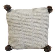 See more information about the Hamilton McBride Knitted Pom Cushion 50 x 50cm - Cream