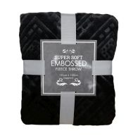 See more information about the Super Soft Embossed Fleece Throw 125 x 150cm - Black Diamond
