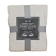 See more information about the Super Soft Embossed Fleece Throw 125 x 150cm - Cream Diamond
