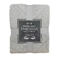 See more information about the Super Soft Embossed Fleece Throw 125 x 150cm - Grey Diamond