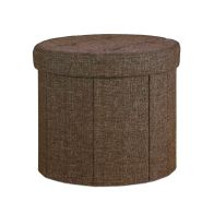 See more information about the Brown Round Ottoman 39cm