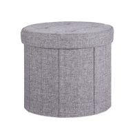 See more information about the Grey Round Ottoman 39cm