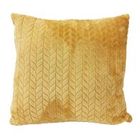 See more information about the Hamilton McBride Jacquard Flannel Cushion Yellow 50 x 50cm
