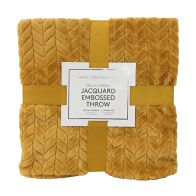 See more information about the Hamilton McBride Jacquard Flannel Throw Yellow 150 x 200cm