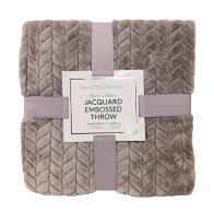 See more information about the Hamilton McBride Jacquard Flannel Throw Grey 150 x 200cm