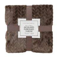 See more information about the Hamilton McBride Jacquard Flannel Throw Brown 150 x 200cm