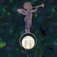 See more information about the Bright Garden Solar Stake Light - Cherub With Trumpet