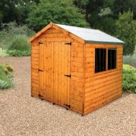 See more information about the Albany Sheds Surrey 7' x 7' Apex Shiplap Wood Garden Shed