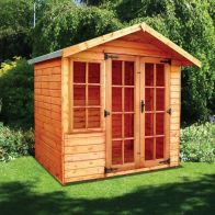 See more information about the Albany Sheds Clipston 7' x 5' Apex Shiplap Wood Garden Summer House