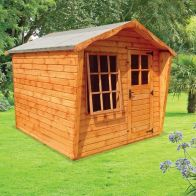 See more information about the Albany Sheds Rockingham 8' x 8' Apex Shiplap Wood Garden Summer House