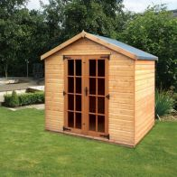 See more information about the Albany Sheds Cottingham 8' x 6' Apex Shiplap Wood Garden Summer House