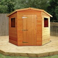 See more information about the Albany Sheds Rutland 7' x 7' Corner Shiplap Wood Garden Potting Shed