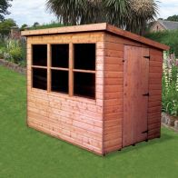 See more information about the Albany Sheds Middleton 8' x 6' Pent Shiplap Wood Garden Potting Shed