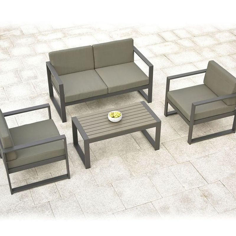 Stupendous Buy San Remo 4 Piece Garden Sofa Set Aluminium Online At Theyellowbook Wood Chair Design Ideas Theyellowbookinfo